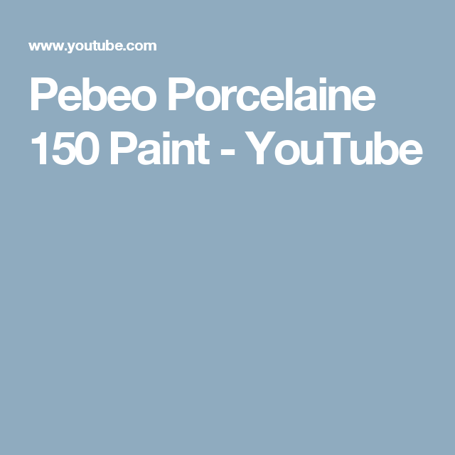 Pebeo Porcelaine 150 Paint - YouTube