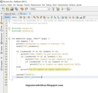 Programación En C Ejercicio De Estructura Selectiva Simple