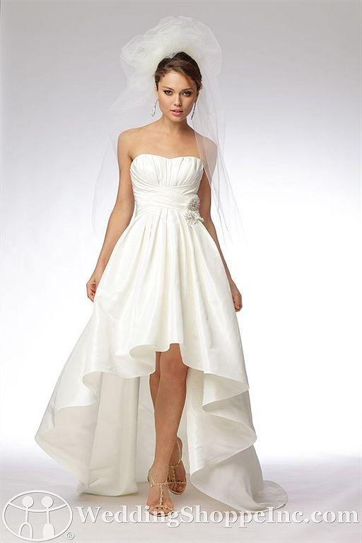 I Love High Low Hemline Wedding Dresses