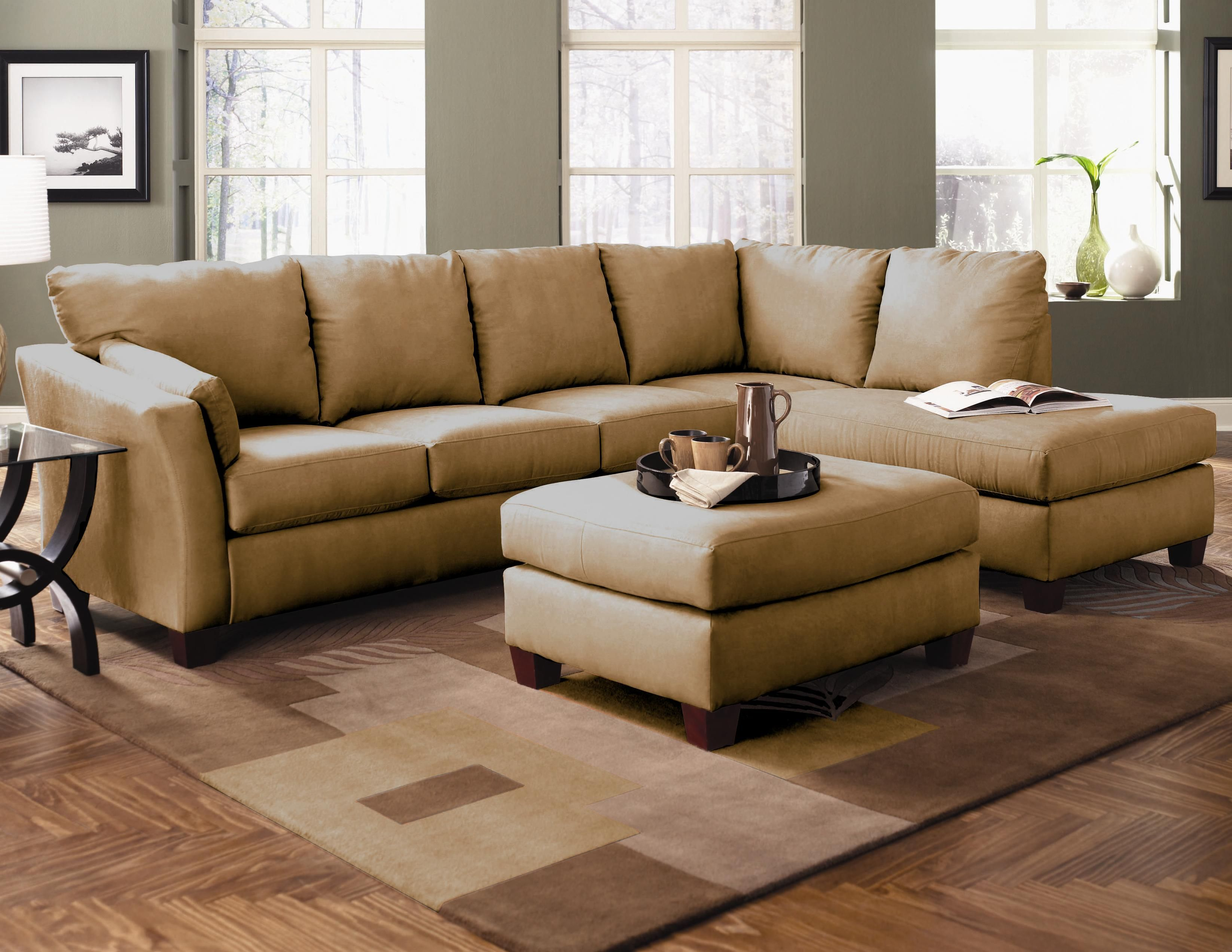 Magnificent microfiber sectional sofa in Living Room Other Metro