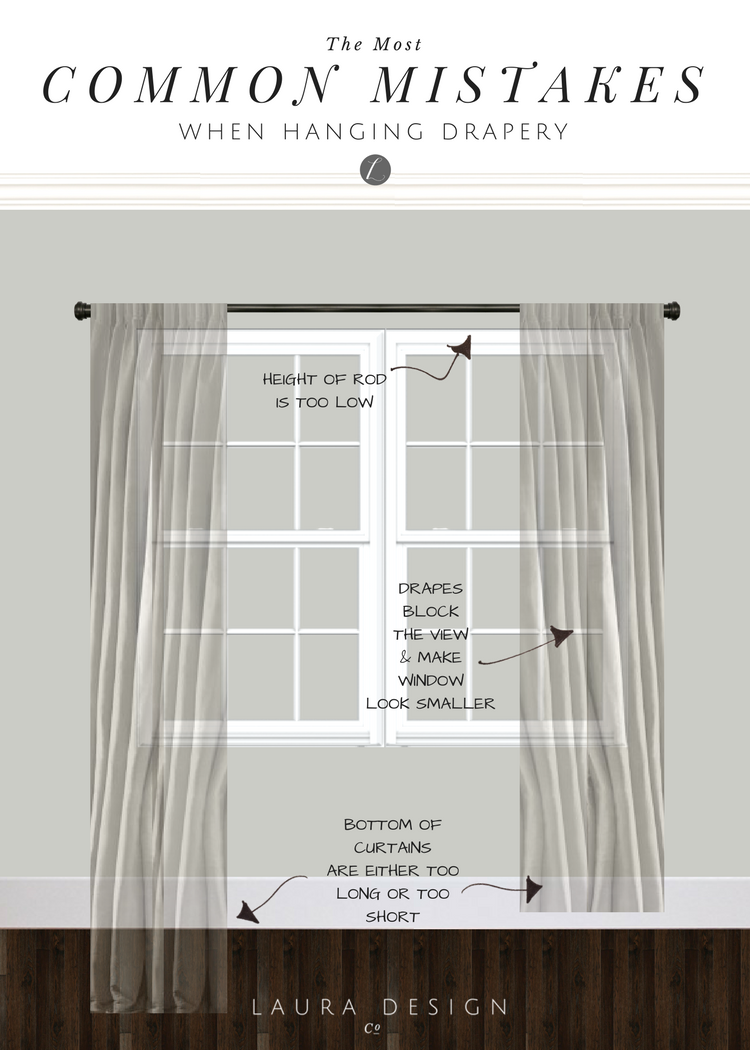 Hanging Drapery How To Get It Right In 2020 Living Room Drapes