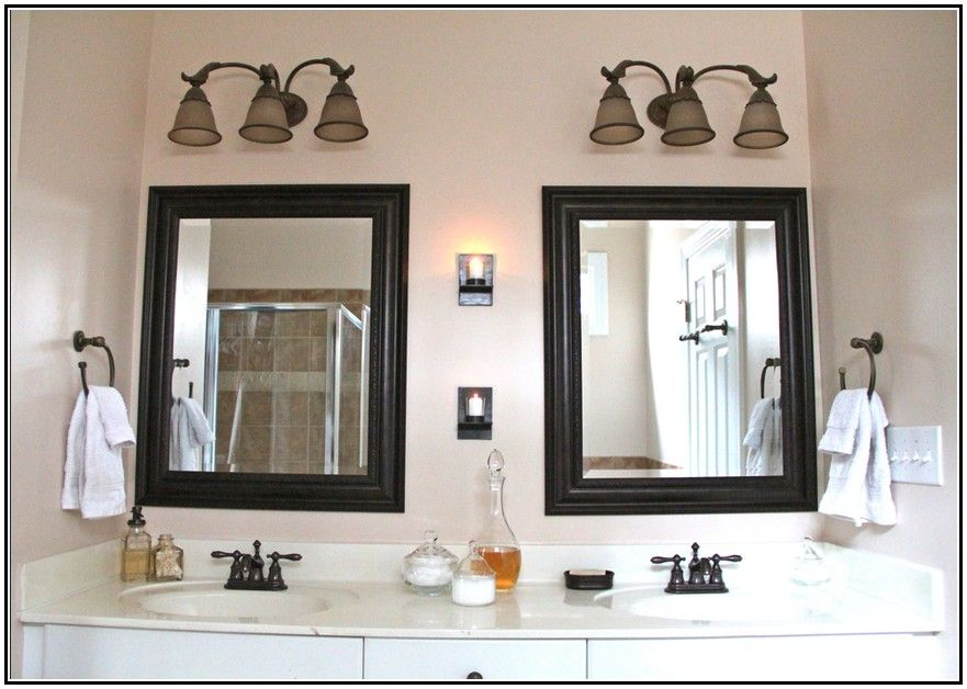 Oil Rubbed Bronze Bathroom Mirrors Walmart With Images Best