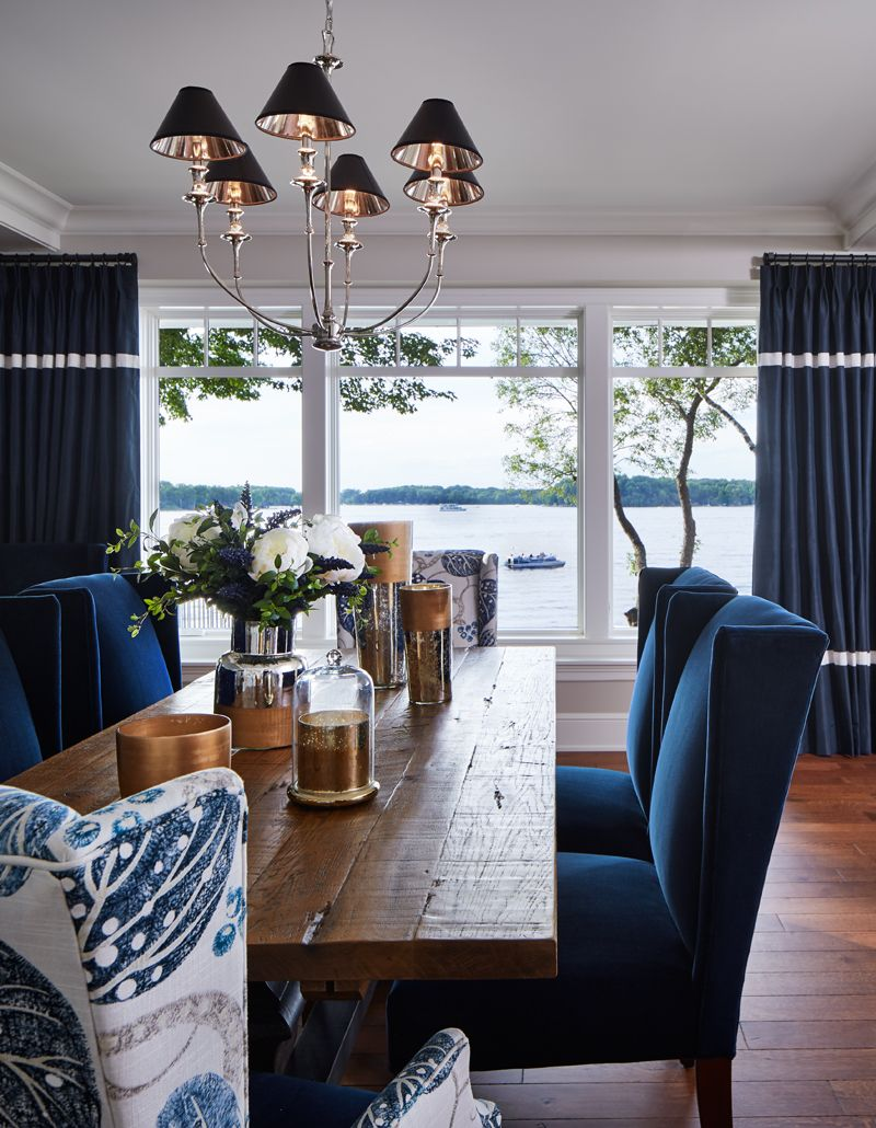 Home interior design dining room excelsior new construction  by vivid interior and hendel homes