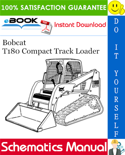 [QMVU_8575]  Bobcat T180 Compact Track Loader Wiring/Hydraulic/Hydrostatic Schematic in  2020 | Operation and maintenance, Repair manuals, Bobcat | T180 Bobcat Wire Diagram |  | Pinterest