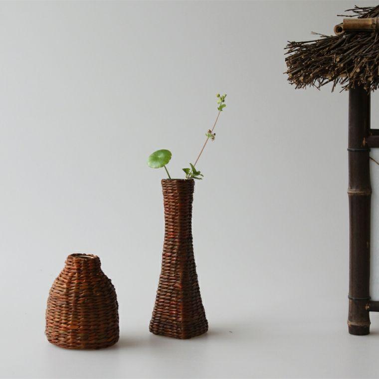 jarrones decorativos de mimbre - Jarrones Decorativos