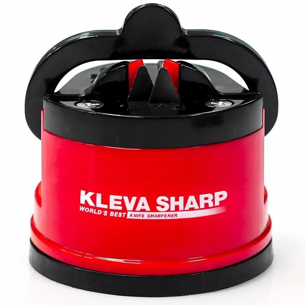 Knife Sharpener Must Have Kitchen Gadgets Small Suction Base Red