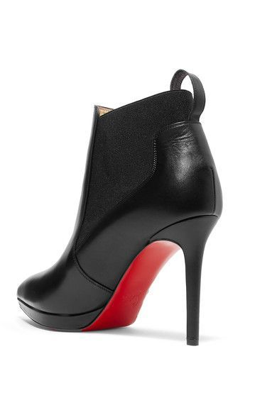 288b46eae88d Christian Louboutin Crochinetta 100 Leather Ankle Boots - Black ...