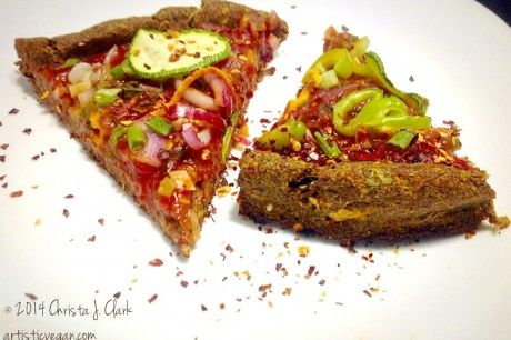 One Bowl Gluten-Free, Oil-Free Flax Meal Pizza Crust [Vegan]