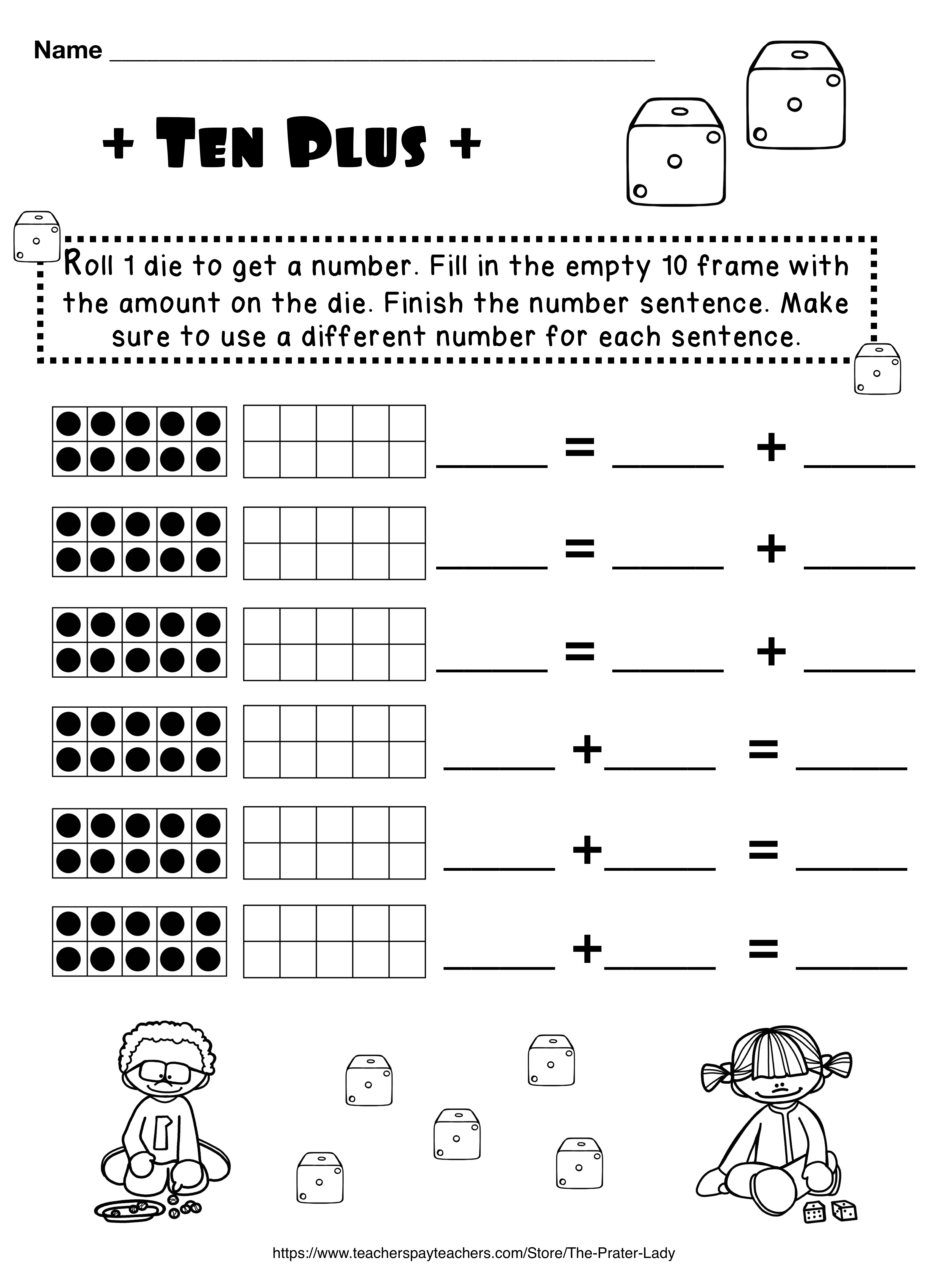 Kindergarten 10 Frames