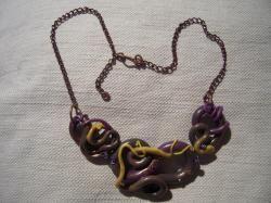 Collana con pendente realizzata in fimo.  Handmade jewelry - DIY