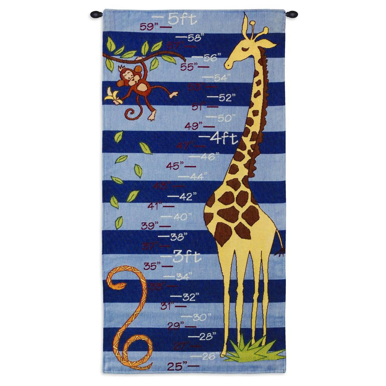 Growth chart art tapestry wall hanging blue tapestry wall growth chart art tapestry wall hanging blue nvjuhfo Images