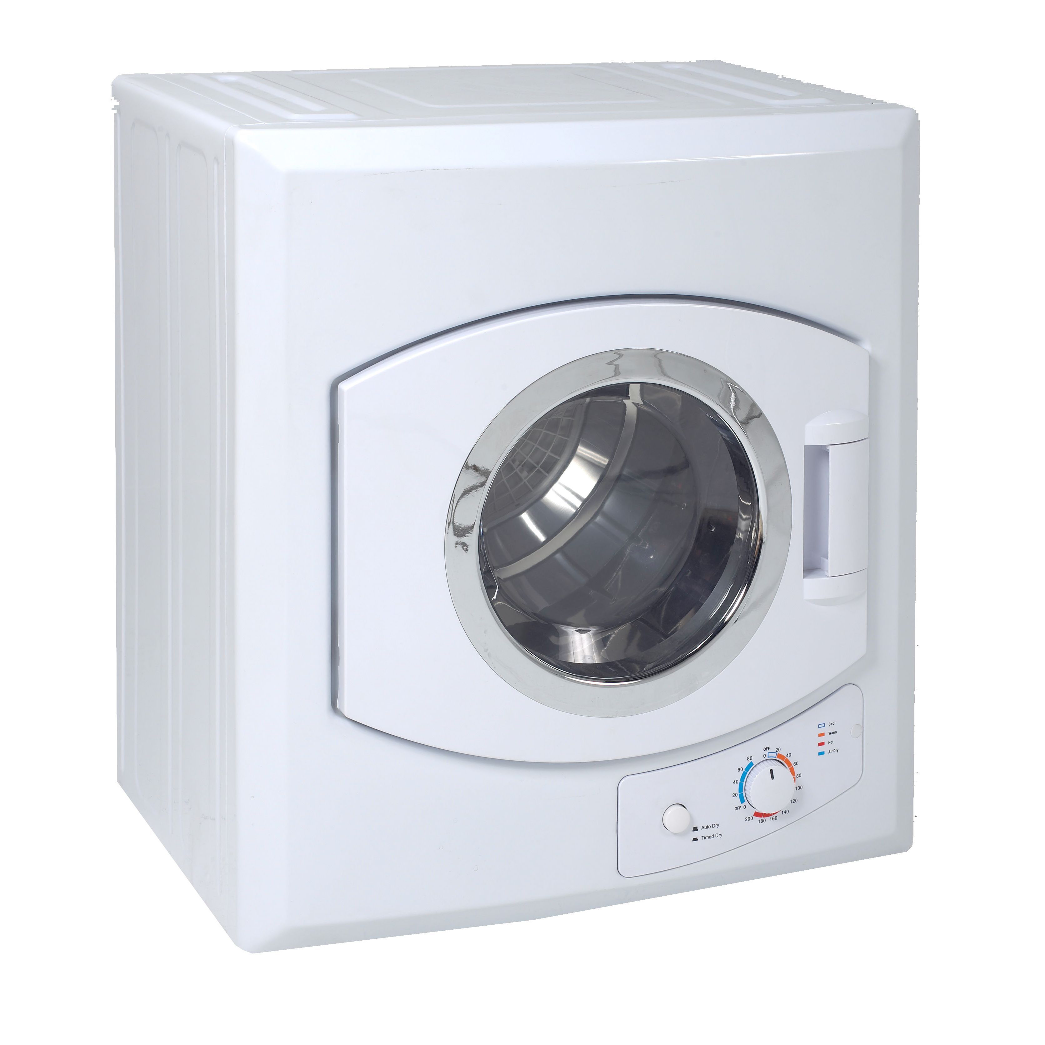 this modern automatic clothes dryer by avanti features a compact