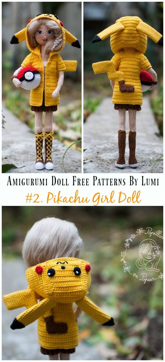 Amigurumi Doll Softies Crochet Free Patterns By Lumi #amigurumidoll