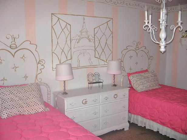 French Themed Girls\' Bedrooms | Televisions, Window and Bedrooms
