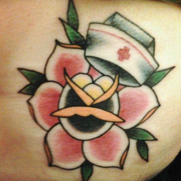 My nurse tattoo! #vintage #traditional #nursetattoo