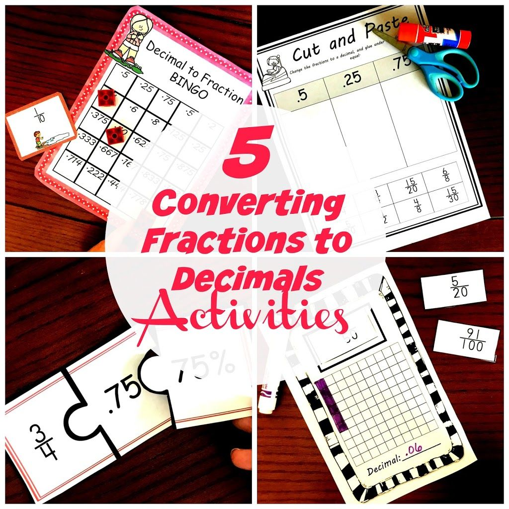 Converting Fractions To Decimals Bundle