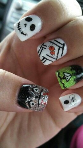 Halloween gel nails | Halloween nail designs, Fancy nails ...