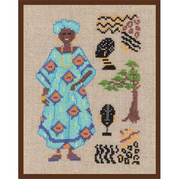 point de croix femme africaine , cross stitch african woman ...