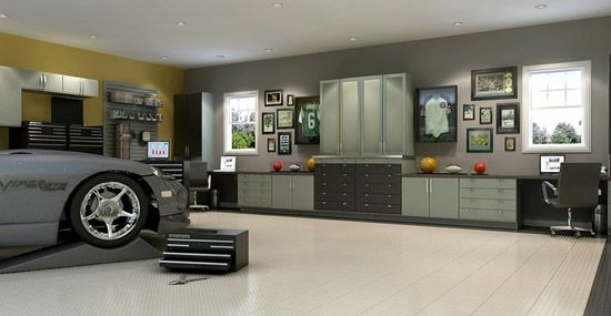 Garage man cave ideas man caves how to turn your garage for Garage office ideas