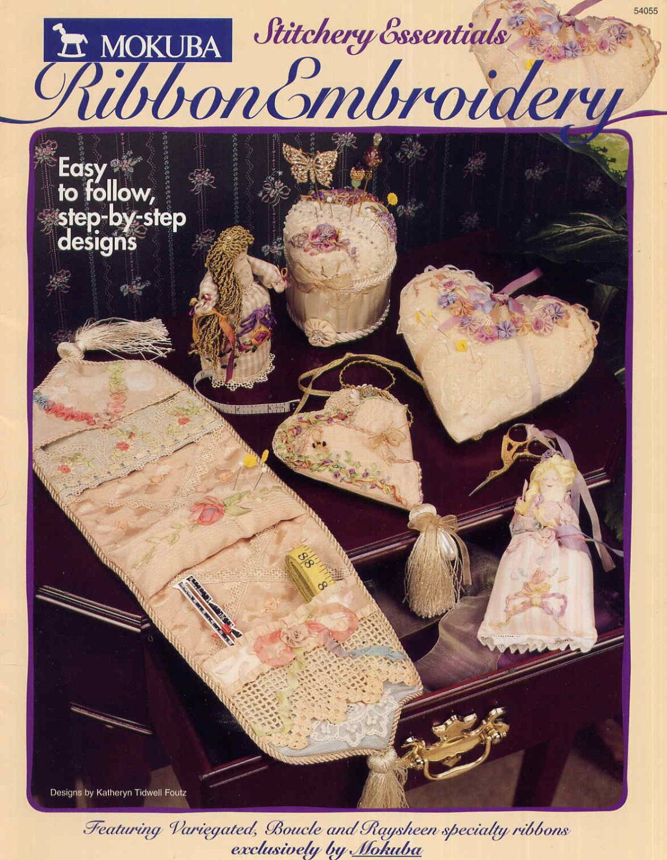 Ribbon Embroidery Pattern Book Stitchery by PrettyPatternShop