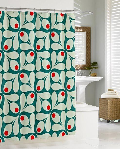 Orla Kiely Inspirate Patern New Hot Shower Curtain Design Vintage