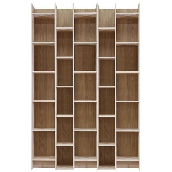 Bücherregal EXPAND BIG Breite 130 cm Eiche Holz Schrank Regal Büro - Schrank Für Wohnzimmer