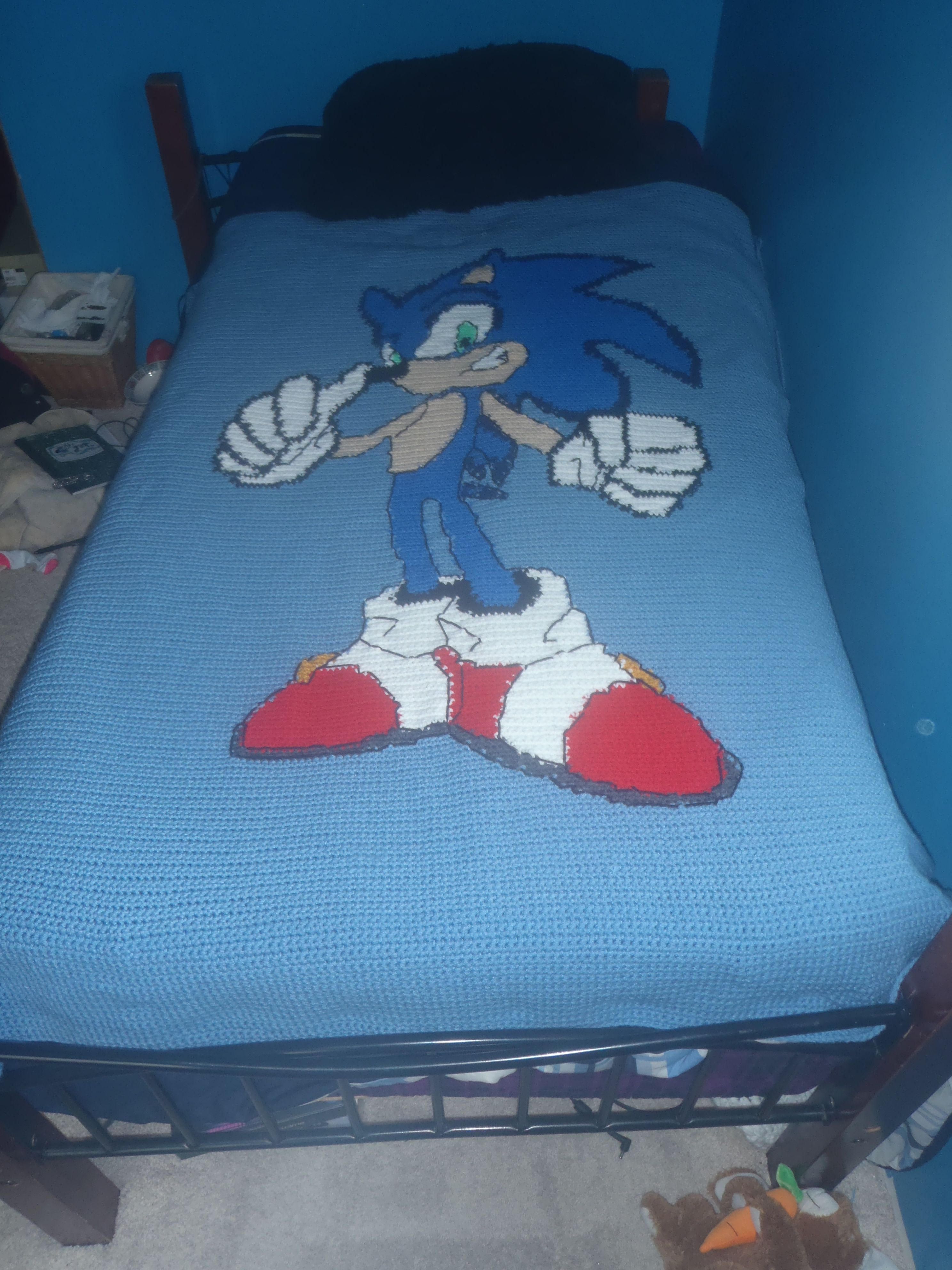 How to make your own female sonic character ehow - Crochet Sonic The Hedgehog Afghan Blanket Doodle Ideassonic The Hedgehogpixel Crochethedgehogscrochet Afghanscrochet Blanketsafghan Blanket Diy