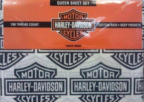 Harley Davidson 180 Count Bedding Sheet Set 4 Bedrooms Bikers Motorcycles Kids Harley Davidson Bedding Harley Davidson Decor Harley Davidson