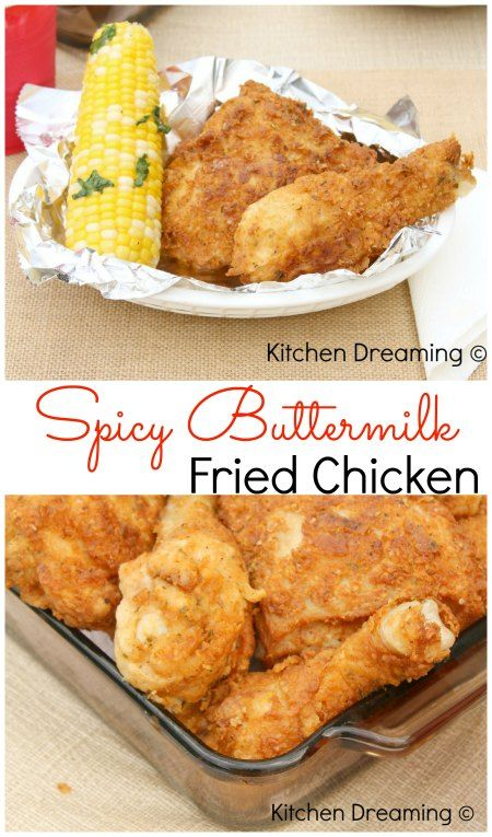 Spicy Fried Chicken Recipe Spicy Fried Chicken Buttermilk Fried Chicken Recipes