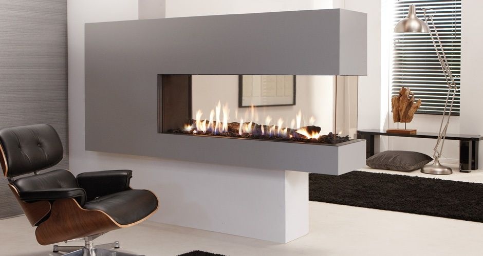 Lucius 140 r element4 foyer fireplace pinterest foyers the lucius 140 room divider is a stunning frameless peninsula fireplace teraionfo