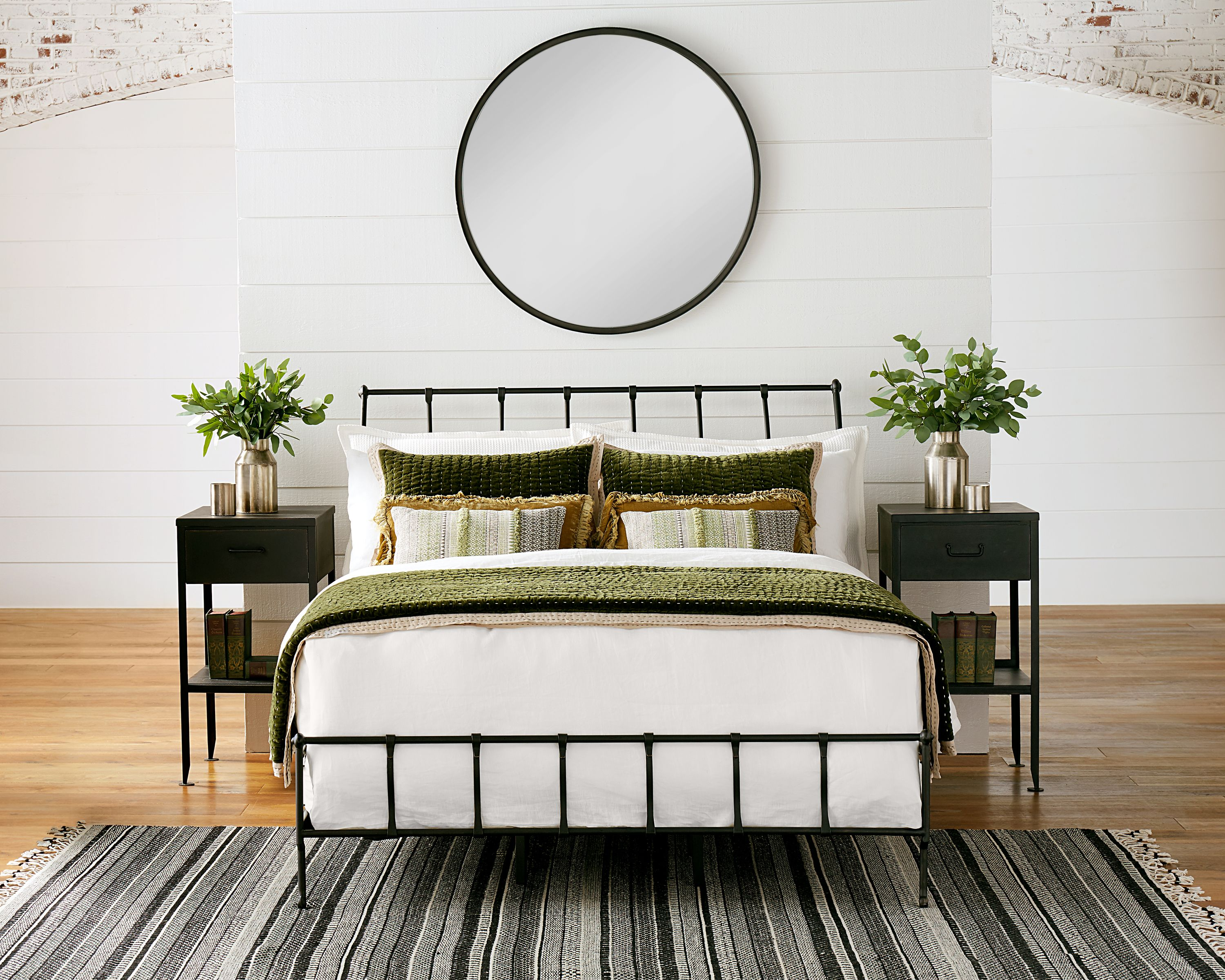 Rake Iron Bed With Metal Utility Table Magnolia Home Bedroom Sets Iron Bed