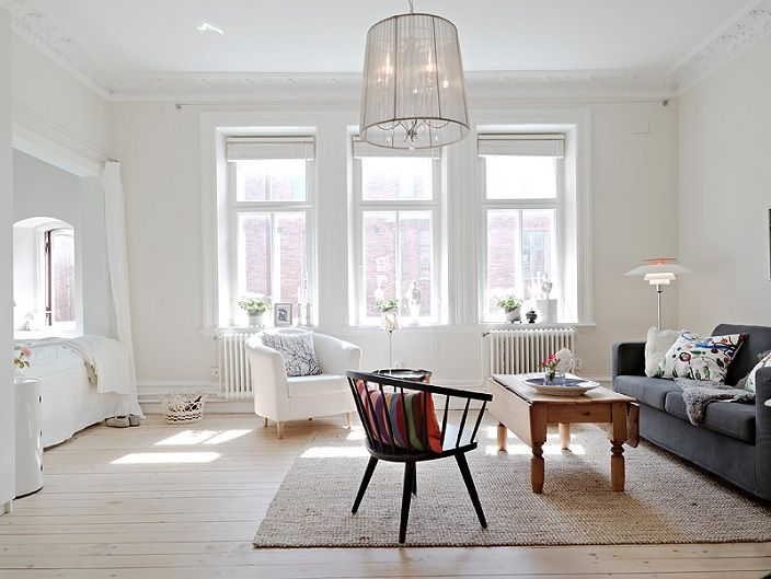 Swedish Interior white-studio-with-alcove-bed-in-sweden-white-swedish-interiors