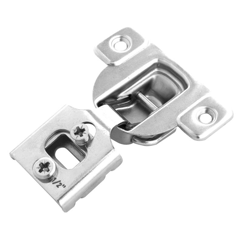 Hickory Hardware P5140 1 2 Inch Overlay Face Frame Cabinet Hinge Single Hinge Bright Nickel Face Frame Cabinets Hinges For Cabinets Overlay Hinges