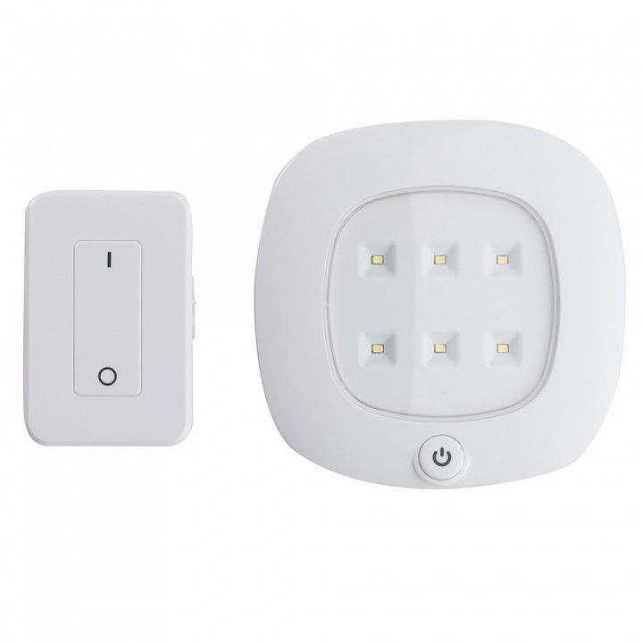 cordless rf controlled led ceiling light set puck lights wireless lighting ceilings 65 fan with