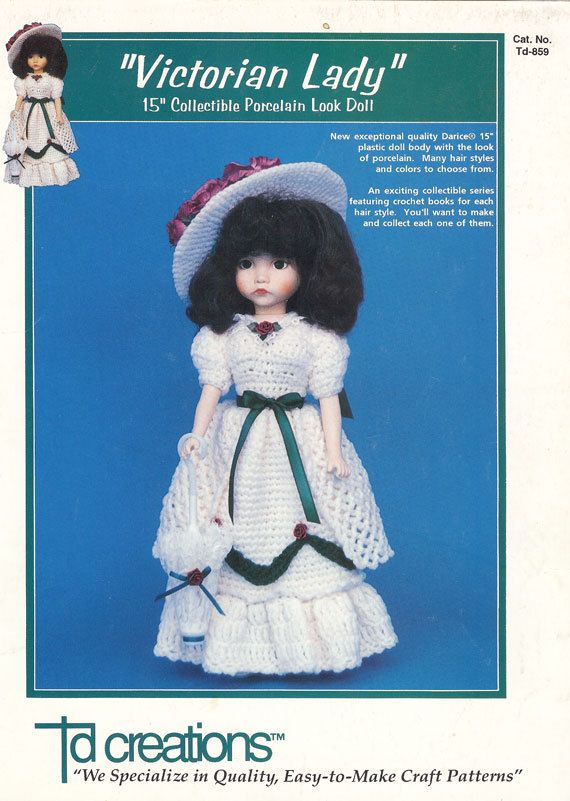 Victorian Lady Crochet Pattern By Td Creations 859 Crocheting And