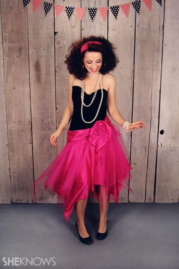 Halloween Costume Ideas 80s Prom Date - I could frizz up my hair all crazy and make it a little more modest o)  sc 1 st  Pinterest & 40 Super-Easy Costume Ideas Thatu0027ll Have You Rockinu0027 Halloween ...