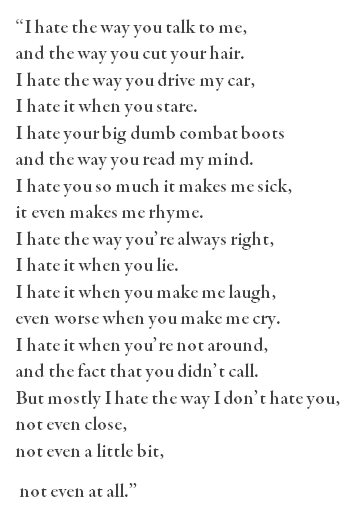 10 things i hate about you such a great poem love the emotion