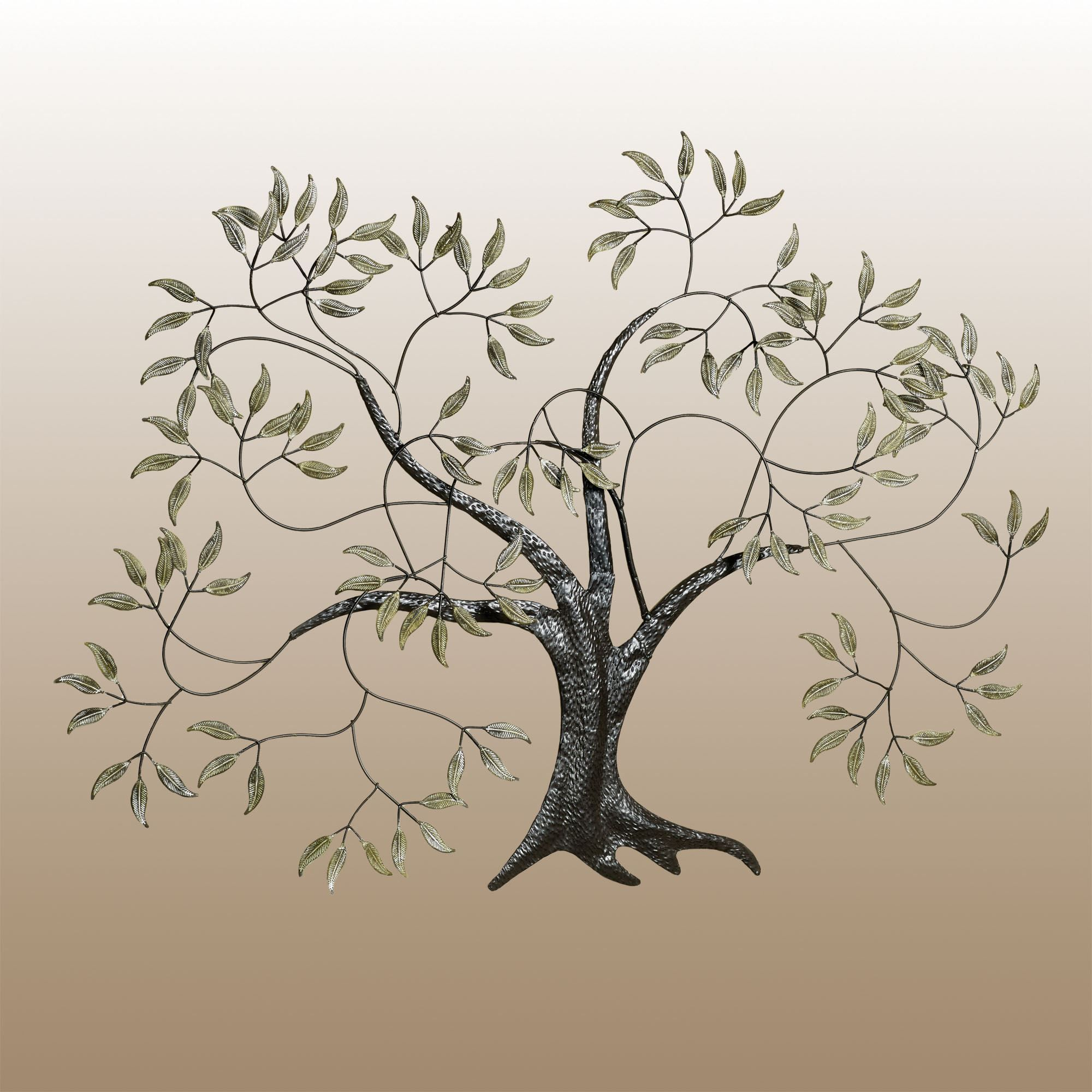 Willow Tree in the Wind Metal Wall Art