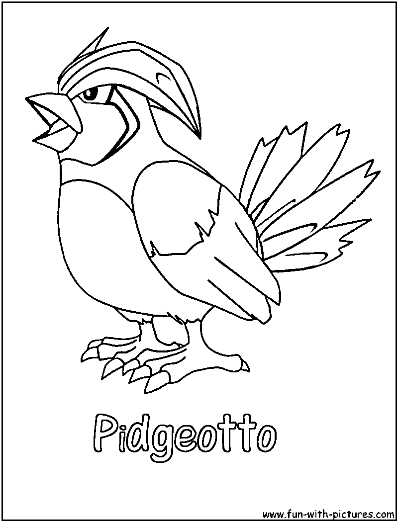 Cloring Pages Pokemon Pidgeotto Colouring Pages Coloring