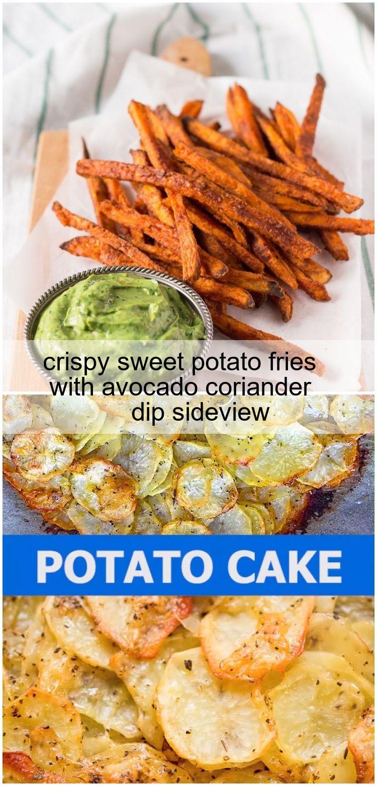crispy sweet potato fries with avocado coriander dip sideview crispy sweet potato fries with avocad