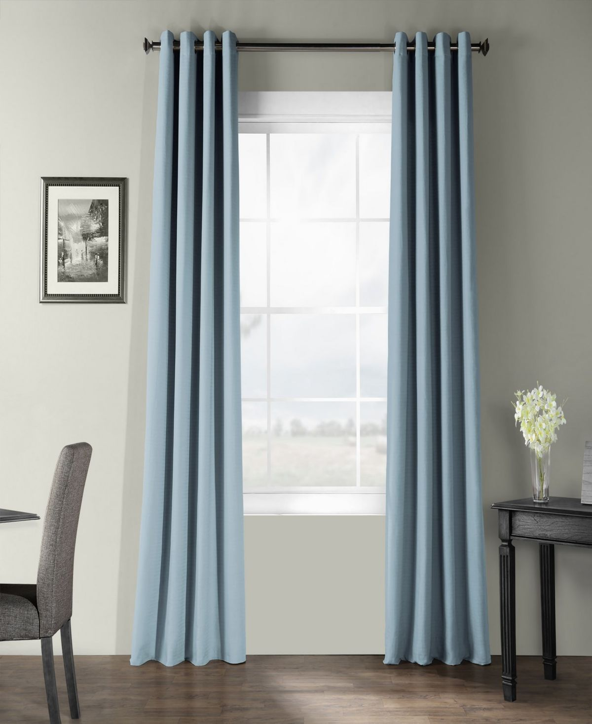 Exclusive Fabrics Furnishings Bark Weave Solid Cotton Grommet 50