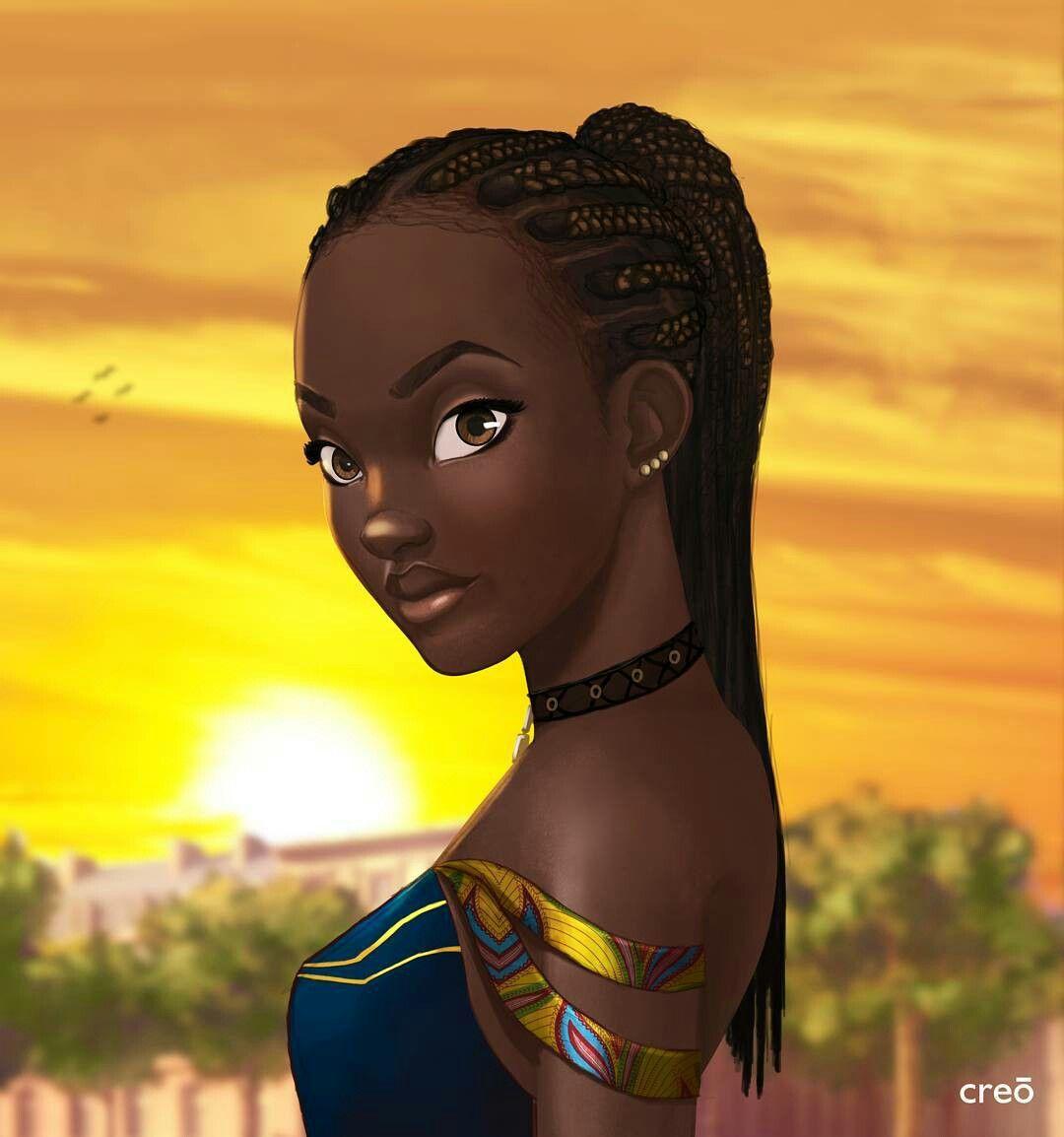 African princess dessin en 2019 art afro au naturel art afro et art femmes noires - Dessin africaine ...
