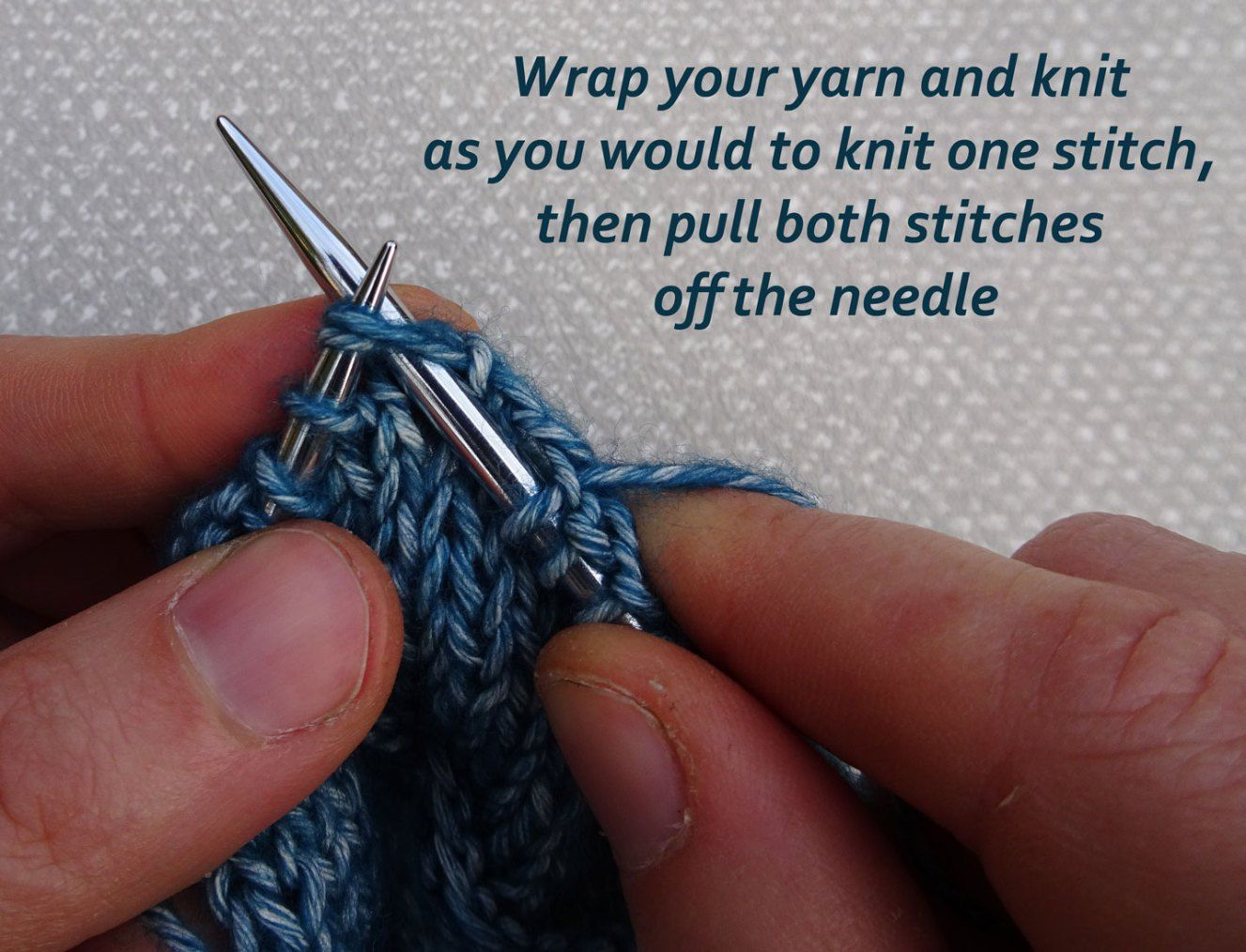 How to Knit Purl 1 Back and Front Increase Tutorial 8