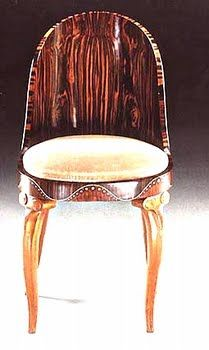1925 Maurice Dufrene Ivory and Mother-Of-Pearl Chair