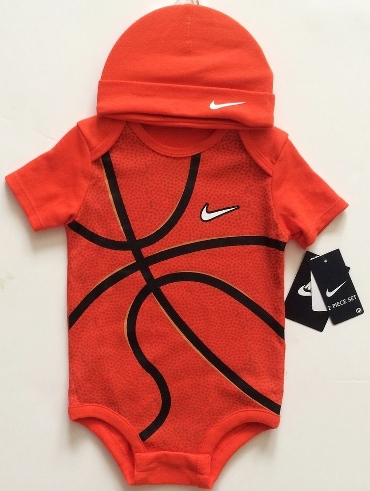 #nike #baby #boy's basketball 2pc bodysuit with cap new from $19.0