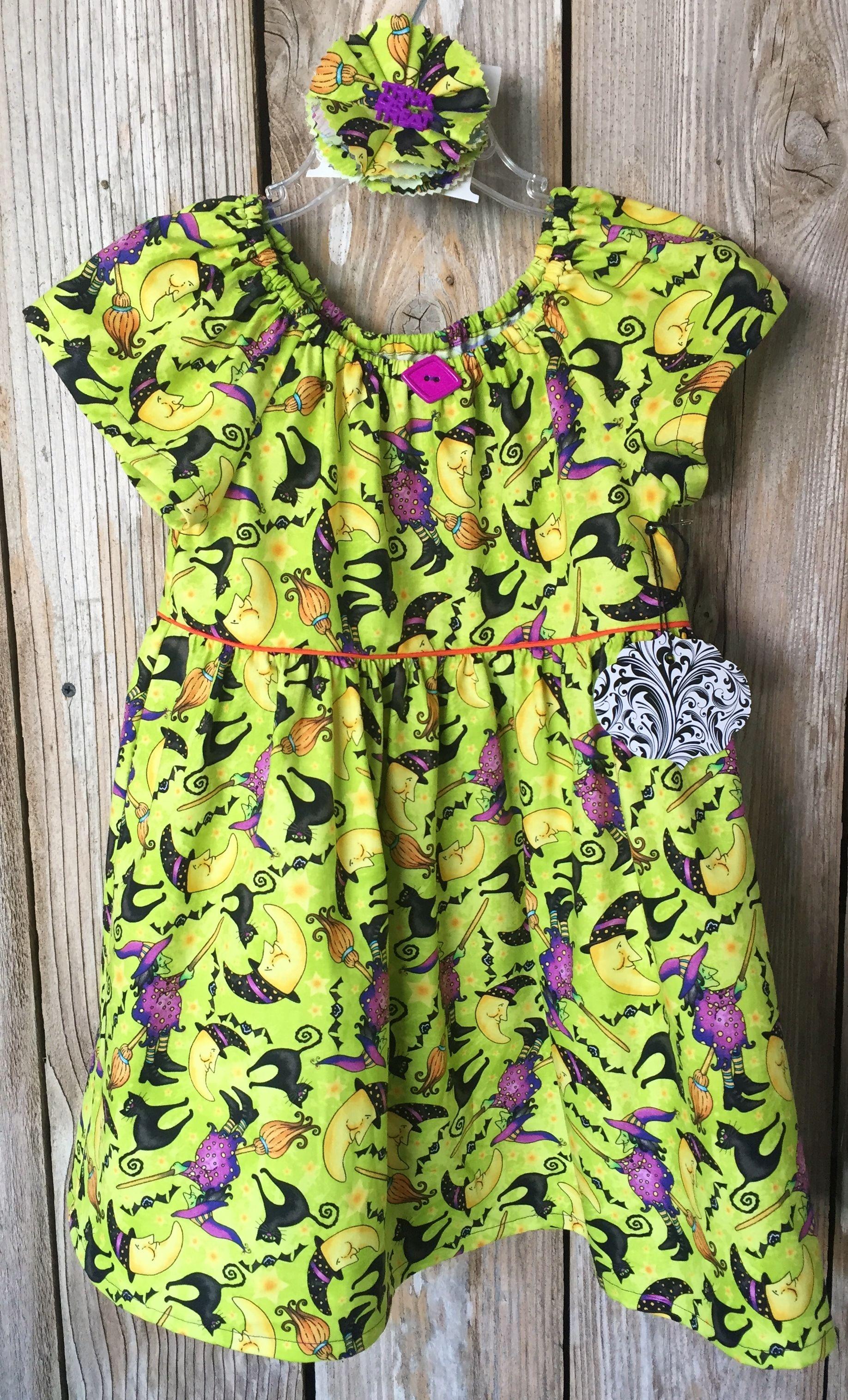 Witchy Poo w/ lining Halloween Dress Halloween skirt