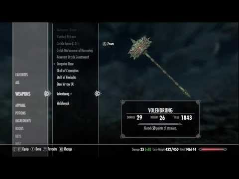 Skyrim - How to get Volendrung *BEST WARHAMMER* (Daedric Artifact #13) - YouTube