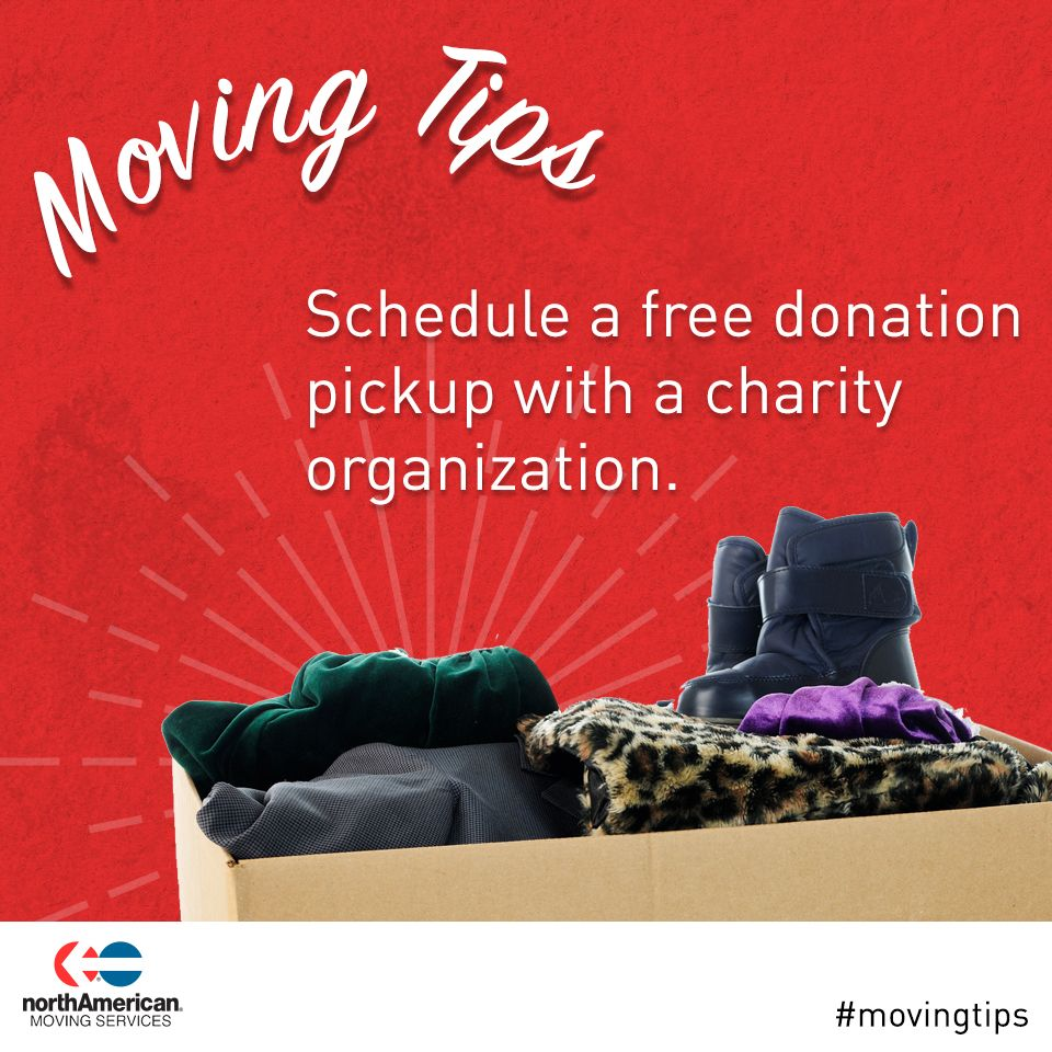 Movingtip Schedule Pick Ups Of Items You Won T Move For Just Before You Begin Packing Moving Tips Moving Moving Services