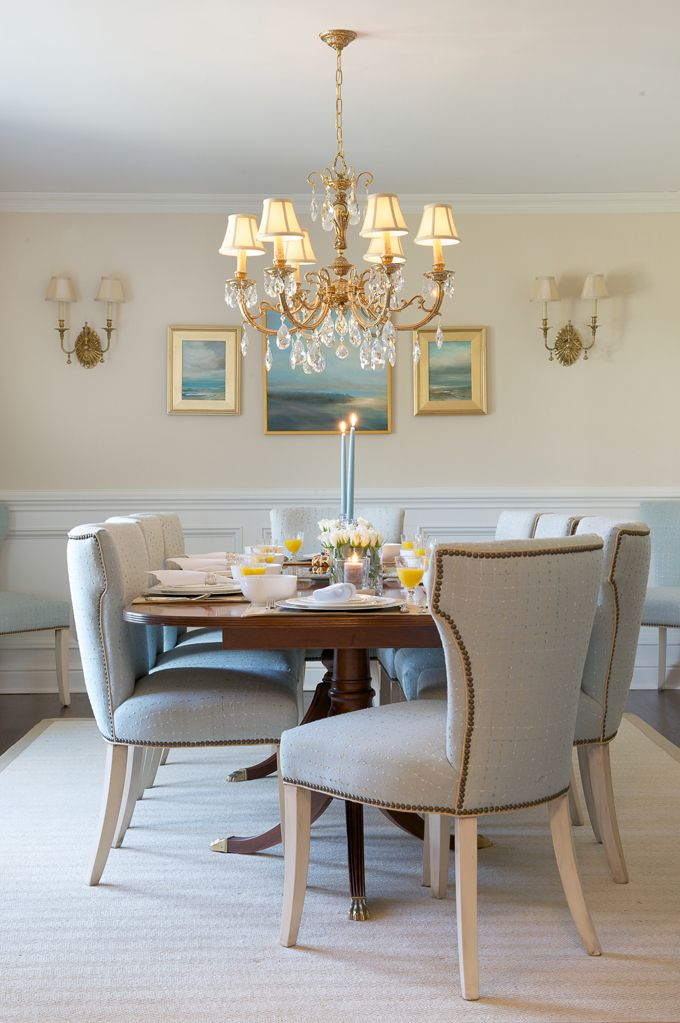 Beautiful Blue Dining Rooms: Dalia Canora Design