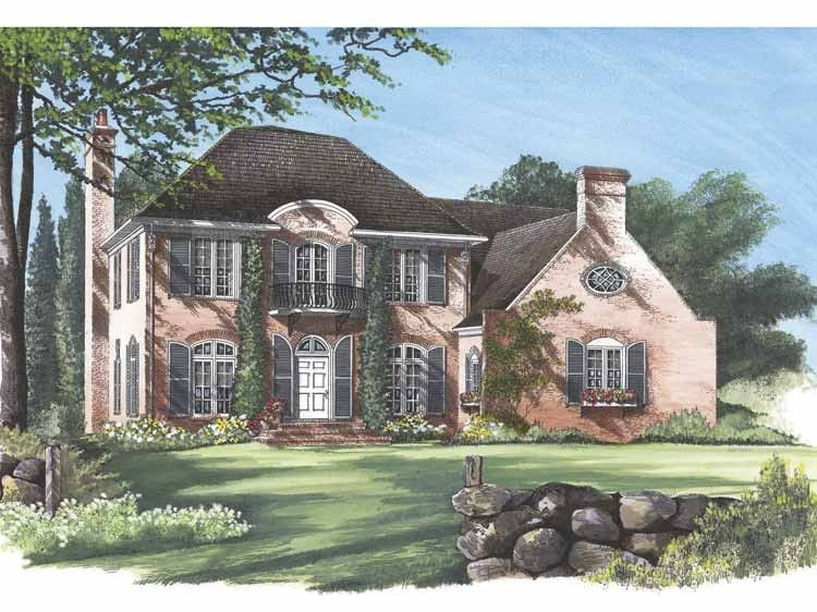 Eplans French Country House Plans Part - 19: Eplans French Country House Plan - Avignon - 3035 Square Feet And 4  Bedrooms From Eplans